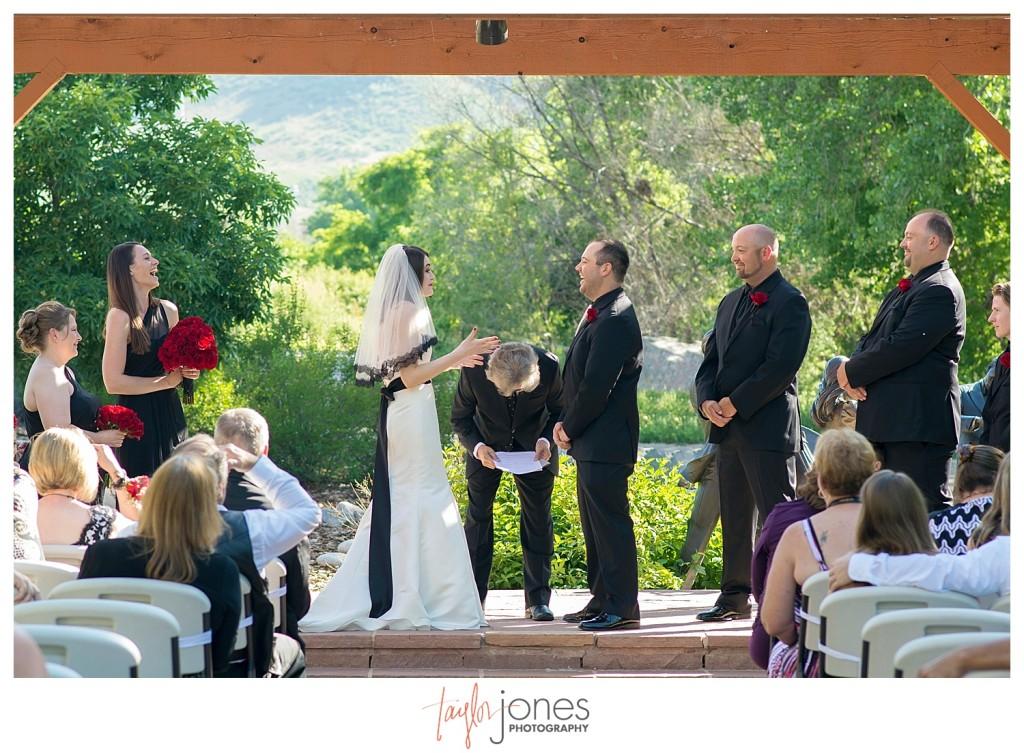 ceremony at Golden Hotel wedding Golden Colorado