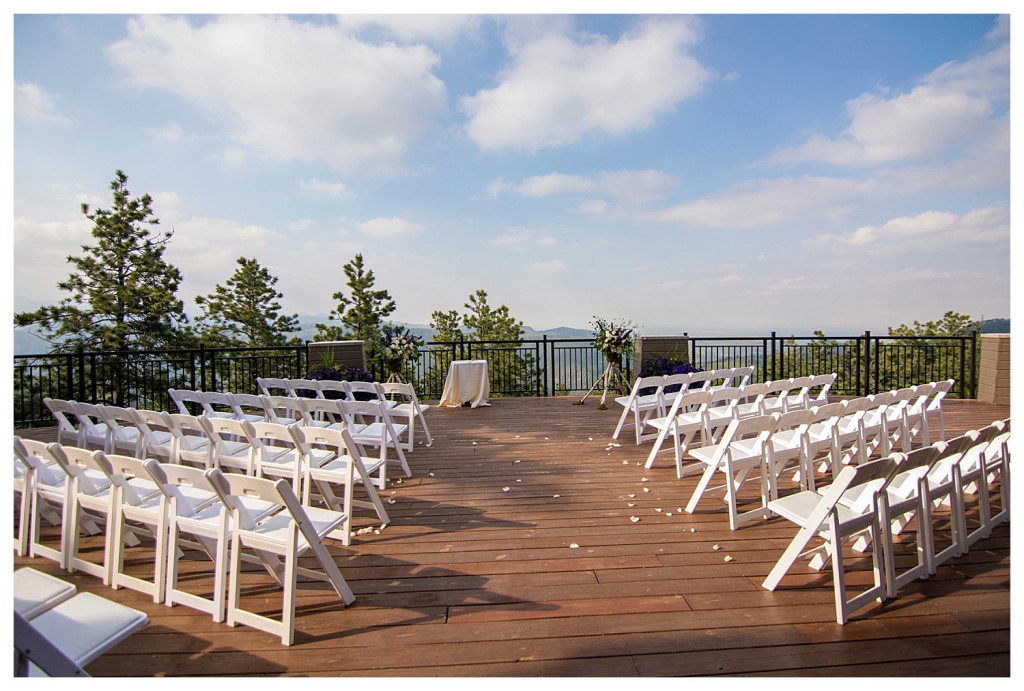 Ceremony site at Mt. Vernon Country Club wedding in Golden, Colorado