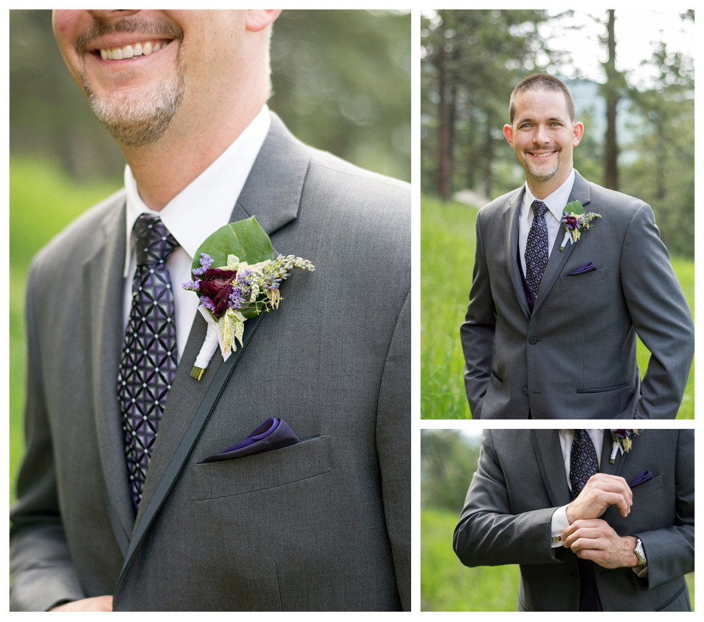 Groom portraits at Mt. Vernon Country Club wedding in Golden, Colorado