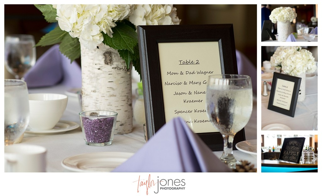 Detail shots of reception at Mt. Vernon Country Club wedding in Golden, Colorado