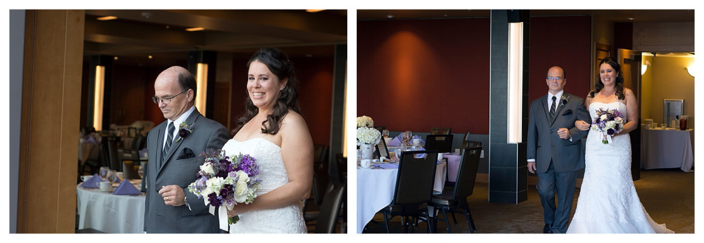 Bride at Wedding ceremony at Mount Vernon Country Club in Golden, Colorado