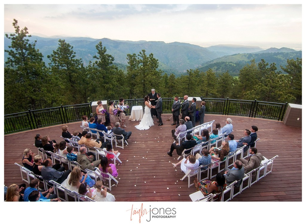 Wedding ceremony at Mount Vernon Country Club in Golden, Colorado