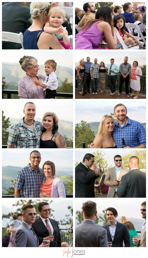 Guests photos at Wedding ceremony at Mount Vernon Country Club in Golden, Colorado