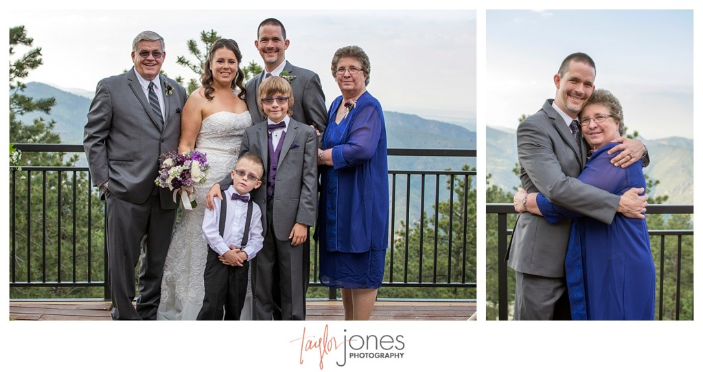 Family photos at Wedding ceremony at Mount Vernon Country Club in Golden, Colorado