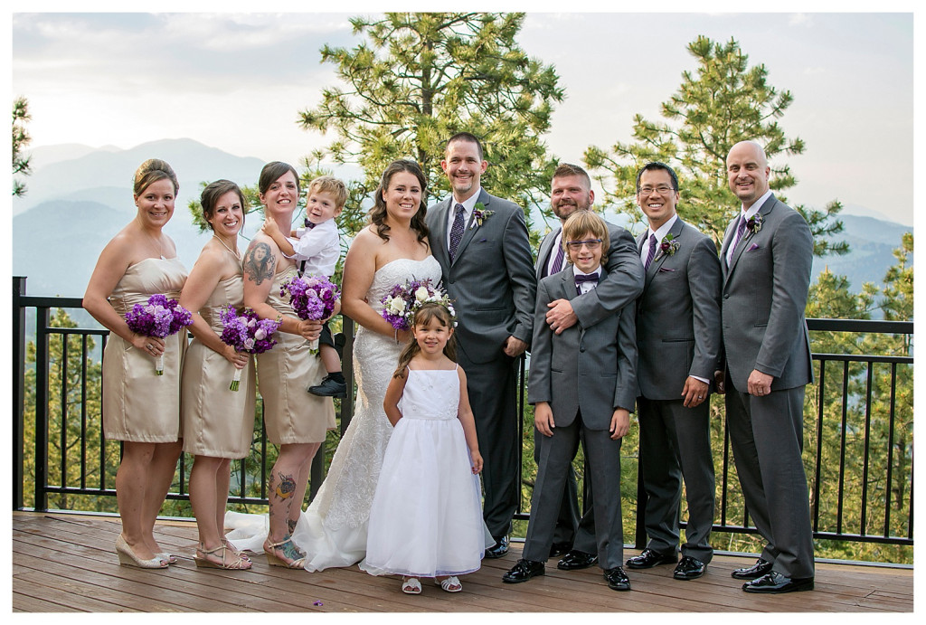 Bridal party photos at Wedding ceremony at Mount Vernon Country Club in Golden, Colorado