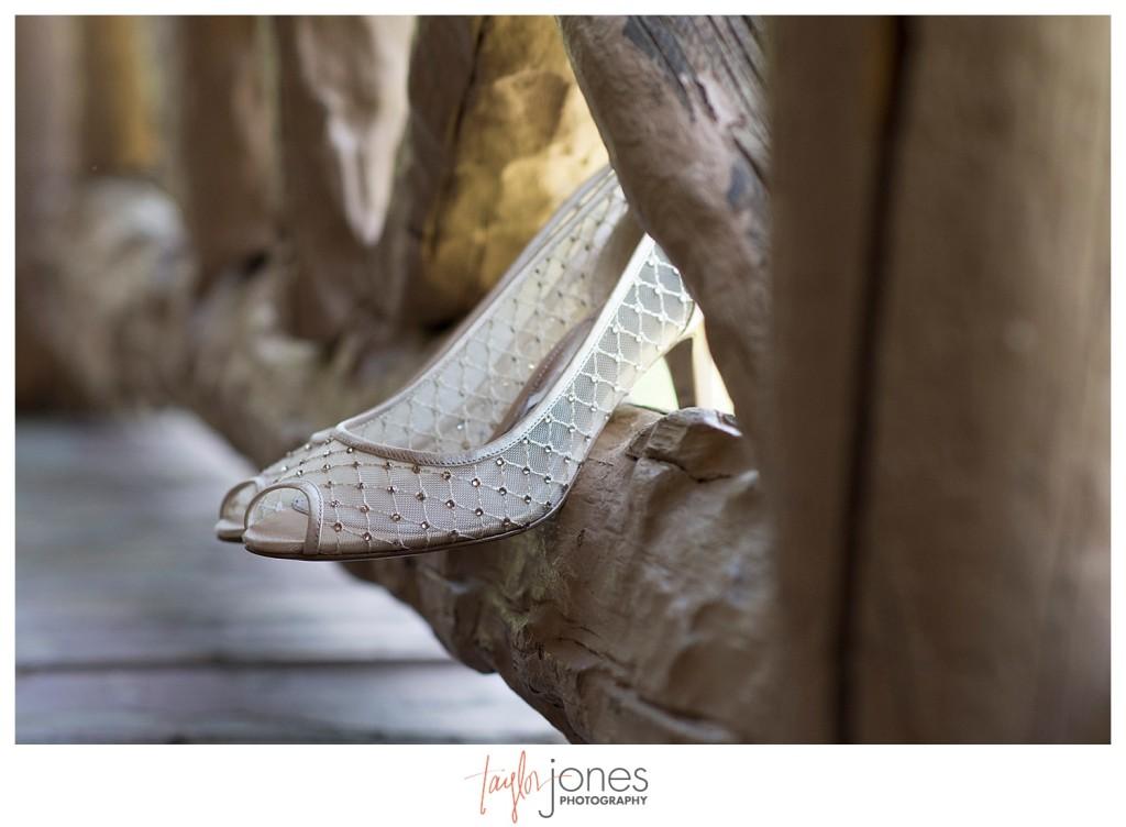 Shoes at cabin at YMCA of the Rockies in Estes Park, Colorado