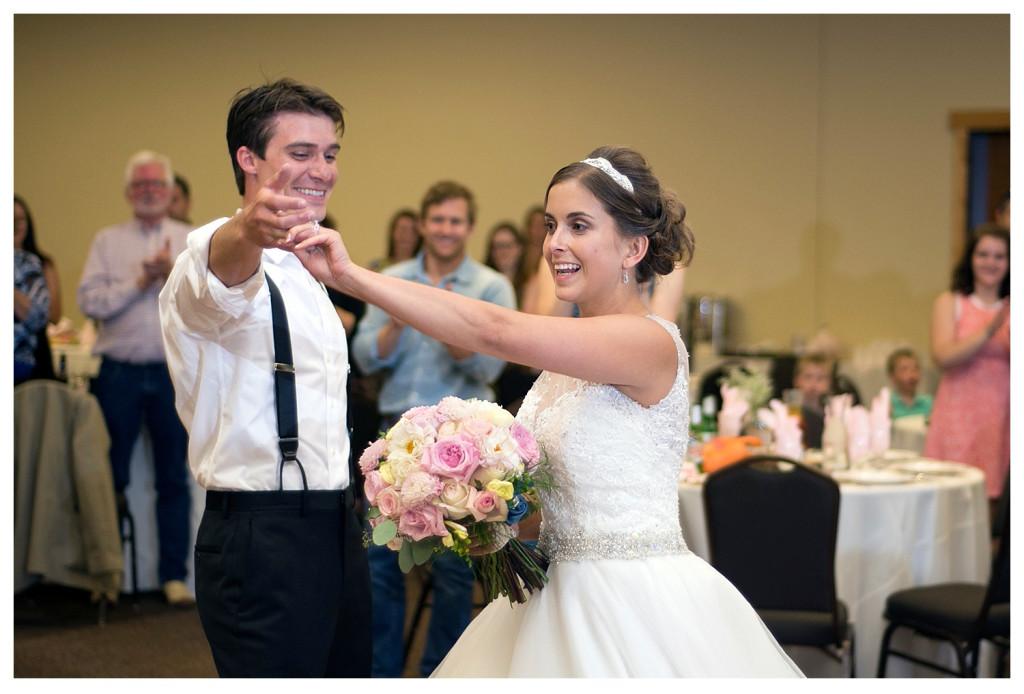 Reception at the YMCA of the Rockies wedding Estes Park Colorado