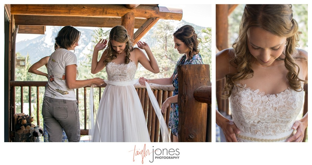 Black Canyon Inn Estes Park wedding bride getting ready