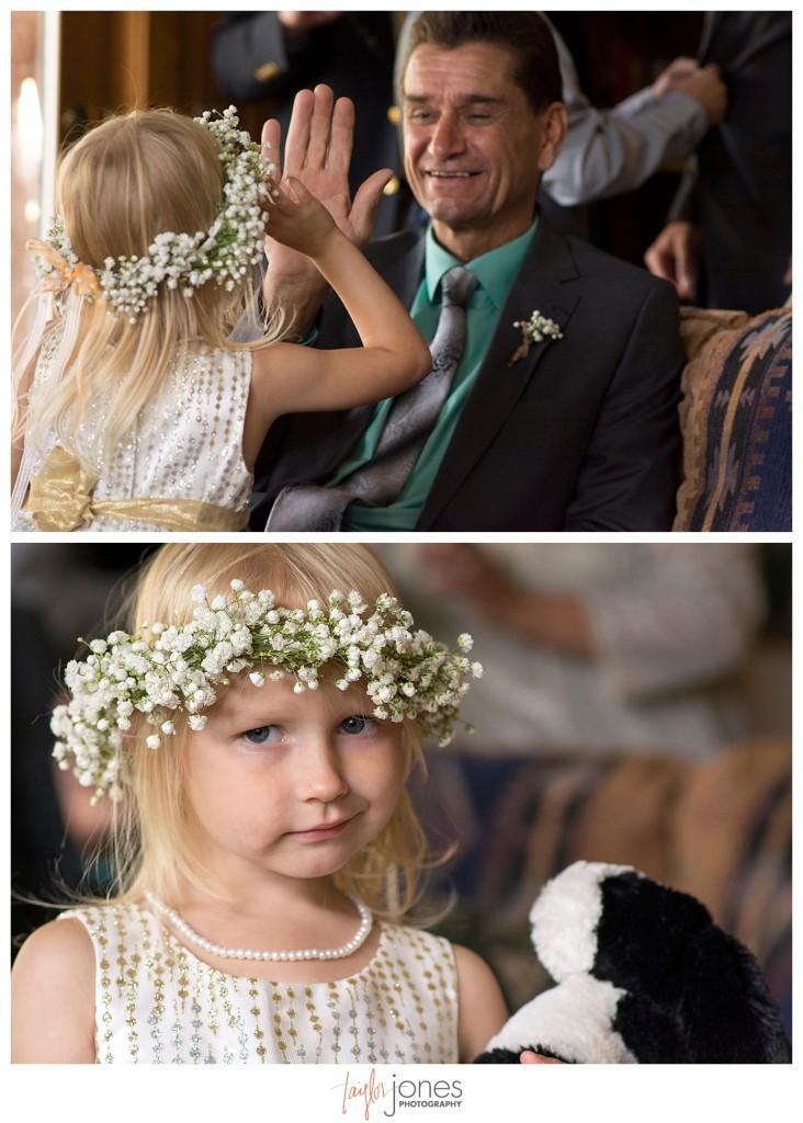 Black Canyon Inn Estes Park wedding  flower girl