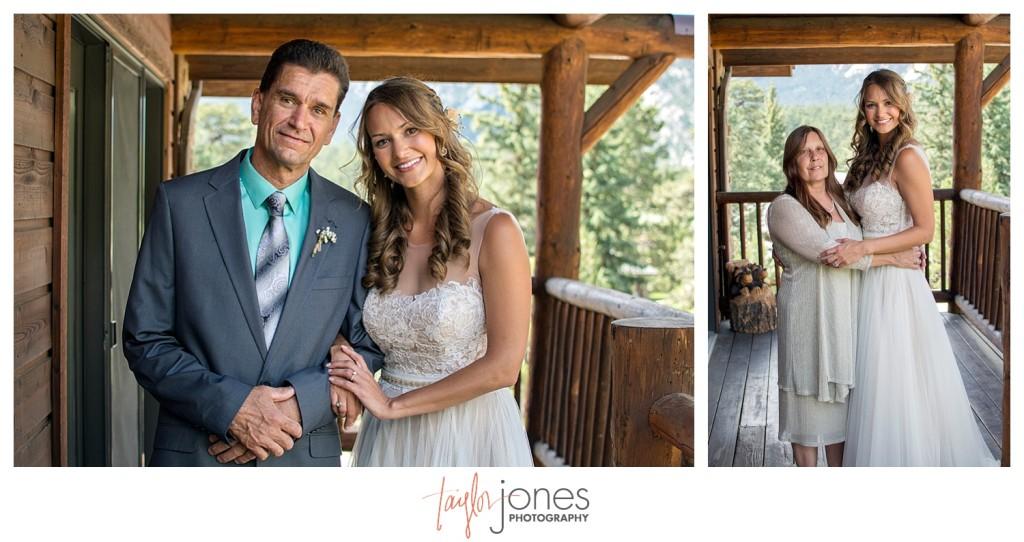 Black Canyon Inn Estes Park wedding family photos