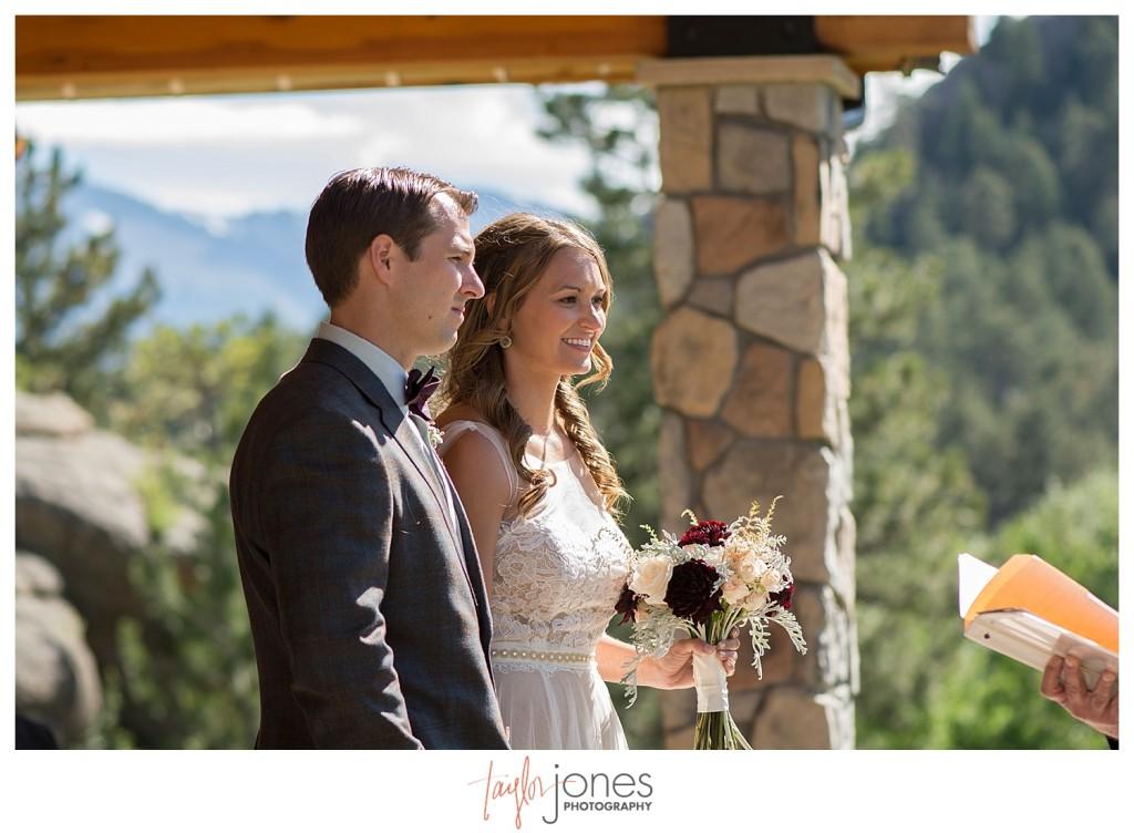 Black Canyon Inn Estes Park wedding ceremony