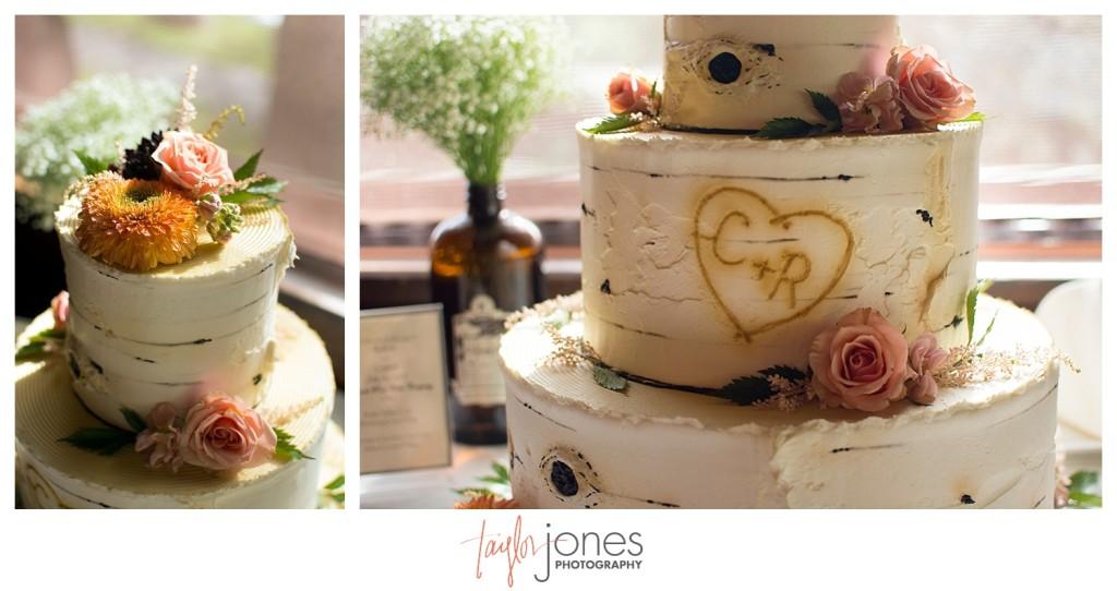 Black Canyon Inn and Twin Owls Steakhouse Estes Park wedding reception wedding cake
