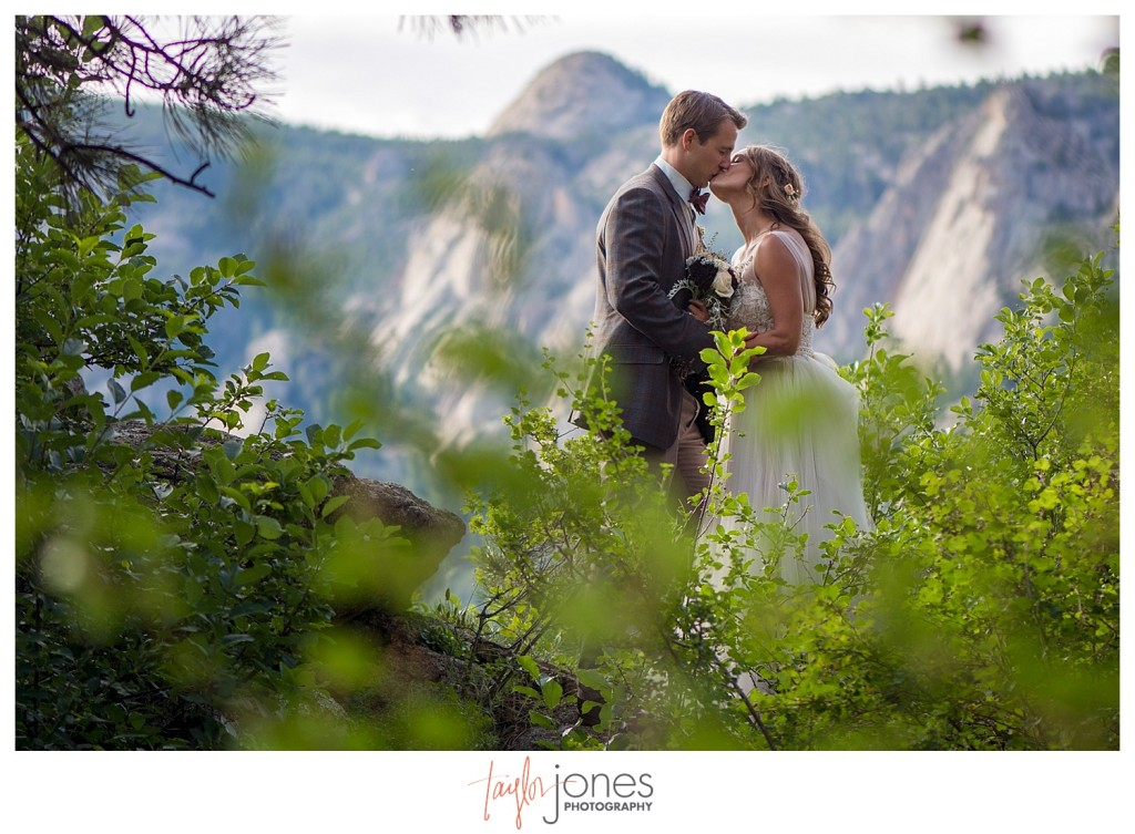 Black Canyon Inn and Twin Owls Steakhouse Estes Park wedding reception couple portraits of bride and groom