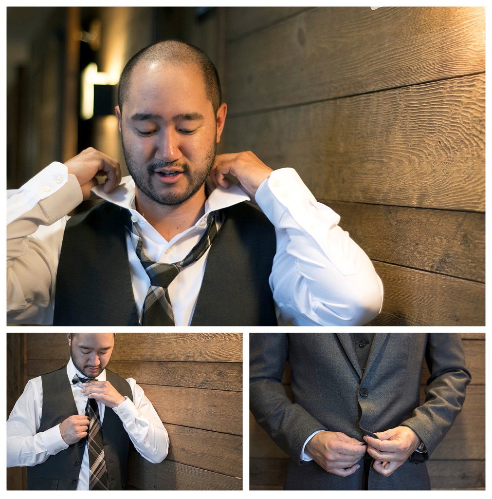 Crested Butte Colorado summer wedding groom Alan getting ready