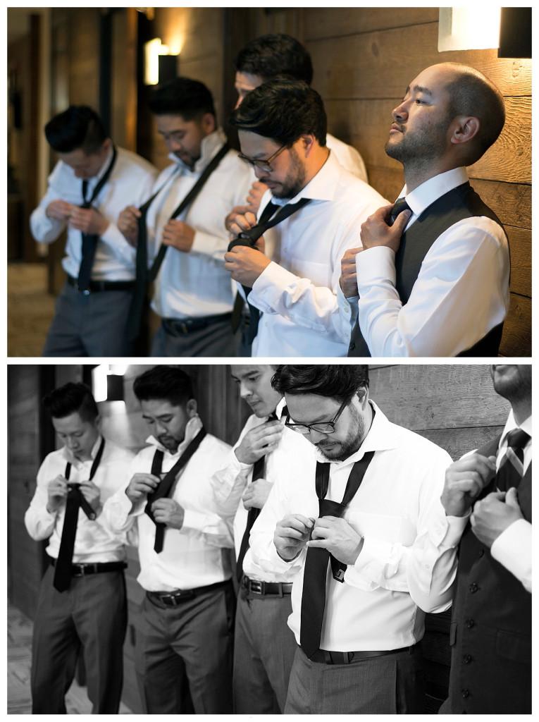 Crested Butte Colorado summer wedding groom with groomsmen