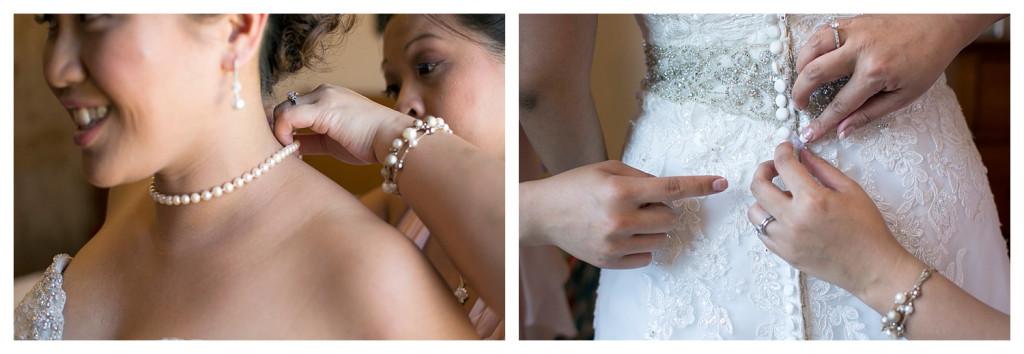Crested Butte Colorado summer wedding bride getting ready