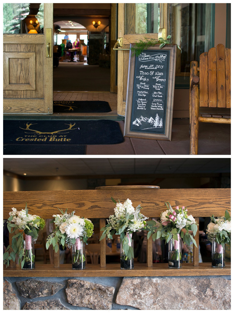 The Club at Crested Butte summer wedding details