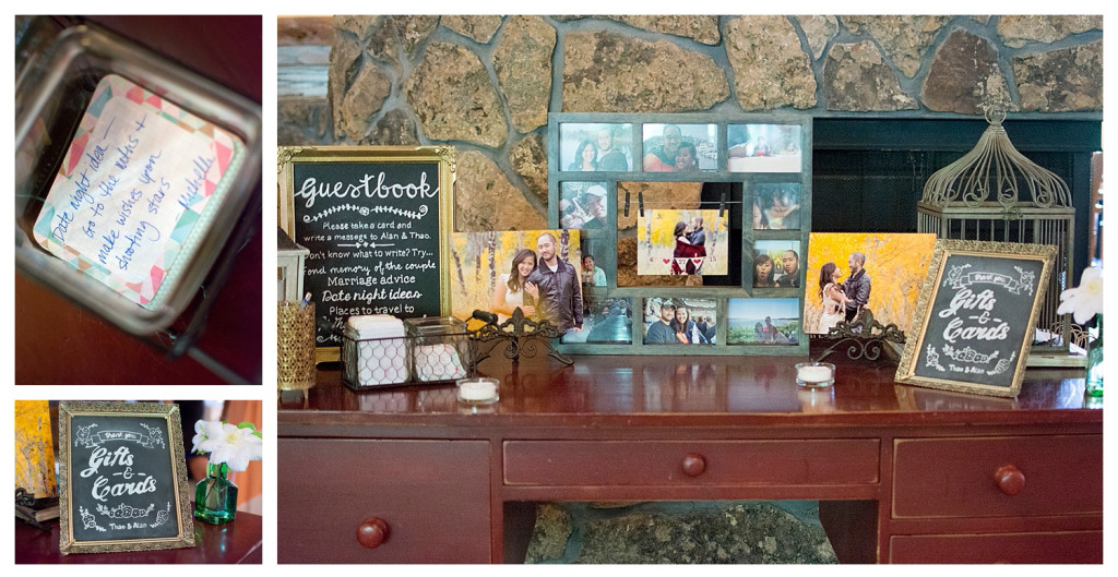 The Club at Crested Butte summer wedding guestbook table