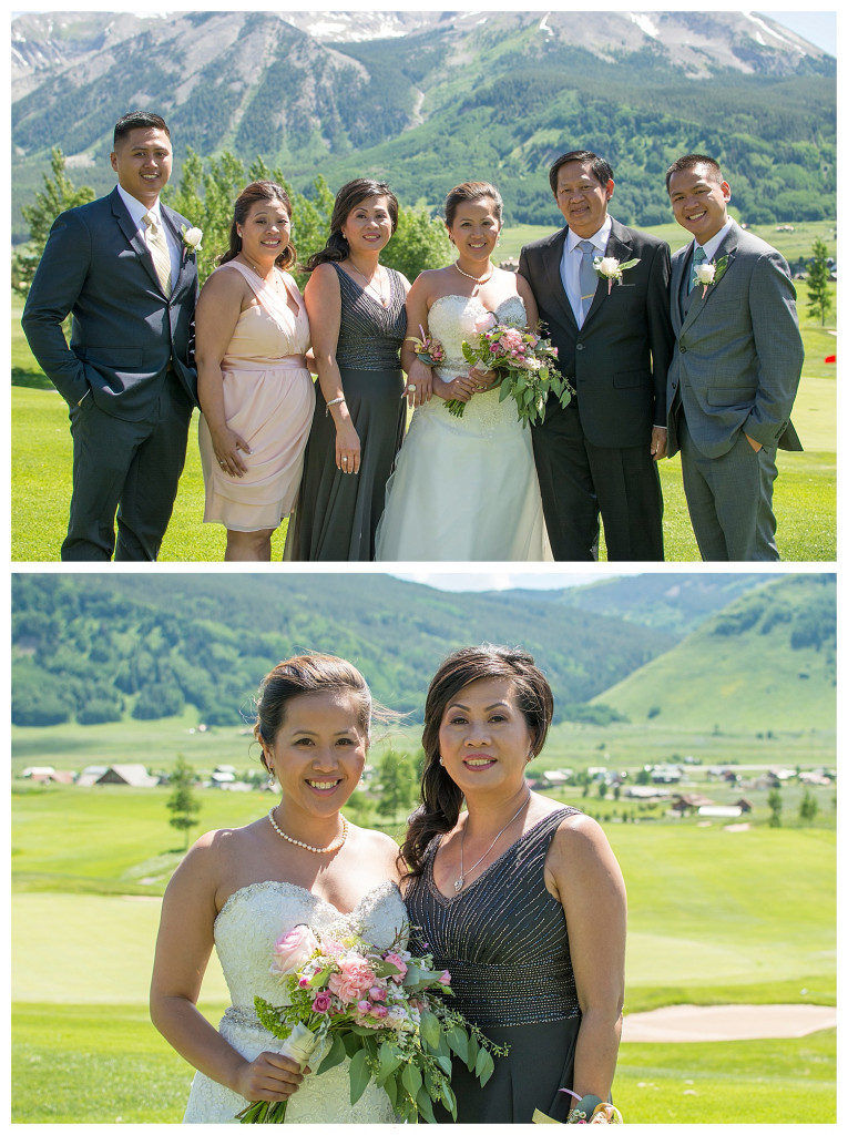 The Club at Crested Butte summer wedding family photos