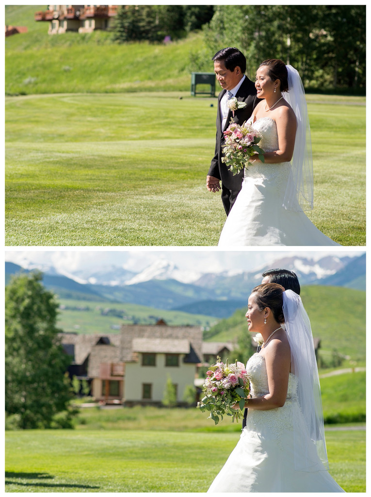 Wedding ceremony at the Club at Crested Butte