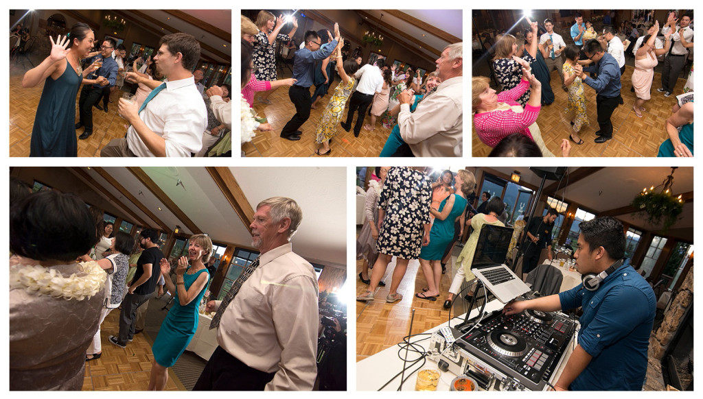 Wedding reception at The Club at Crested Butte guests