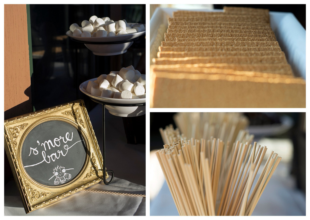 Wedding reception at The Club at Crested Butte s'mores bar