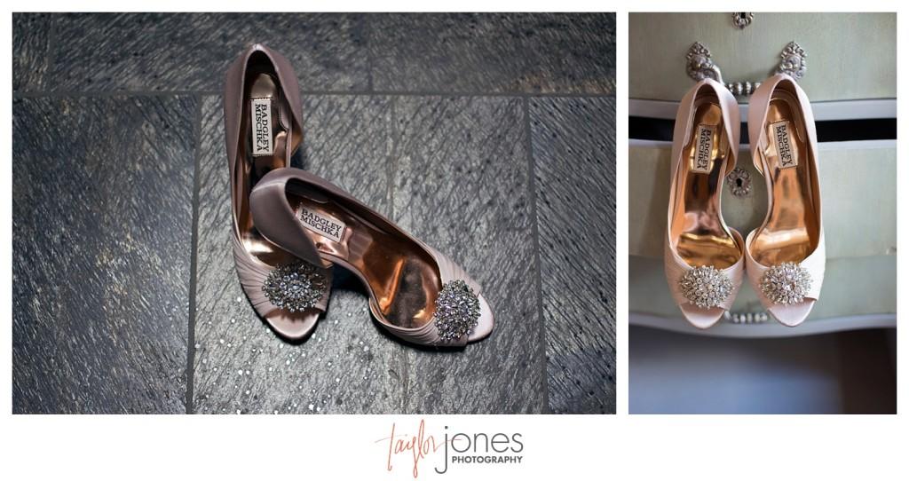 Della Terra Estes Park Wedding bride shoes
