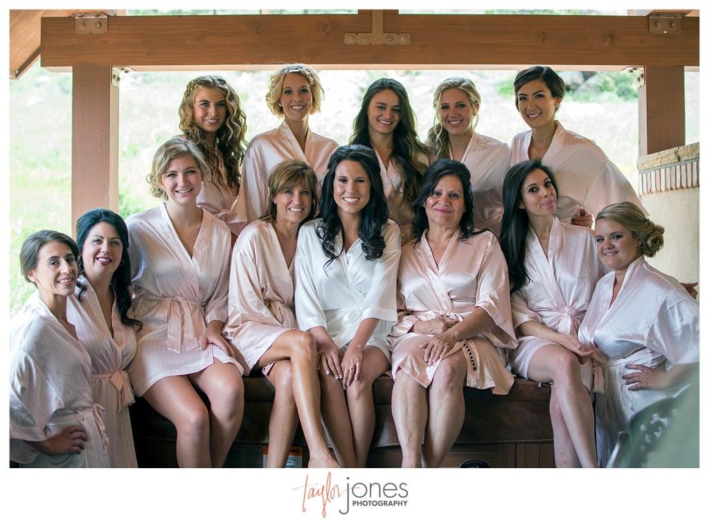 Della Terra Estes Park Wedding bride with bridesmaids