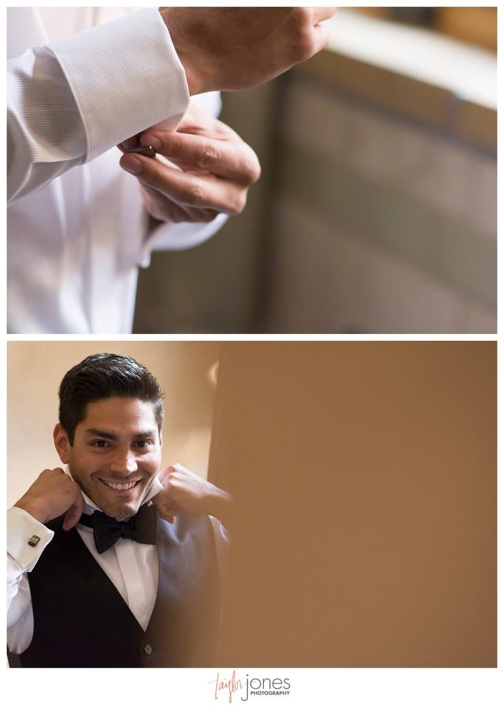 Della Terra Estes Park Wedding groom getting ready