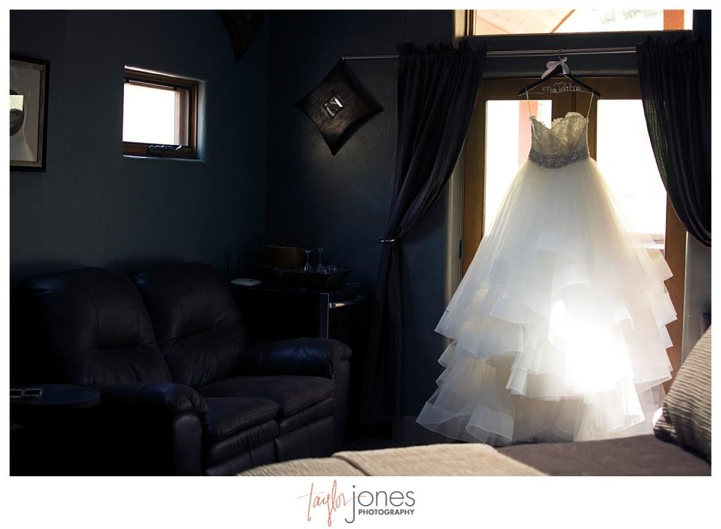 Della Terra Estes Park Wedding bride dress