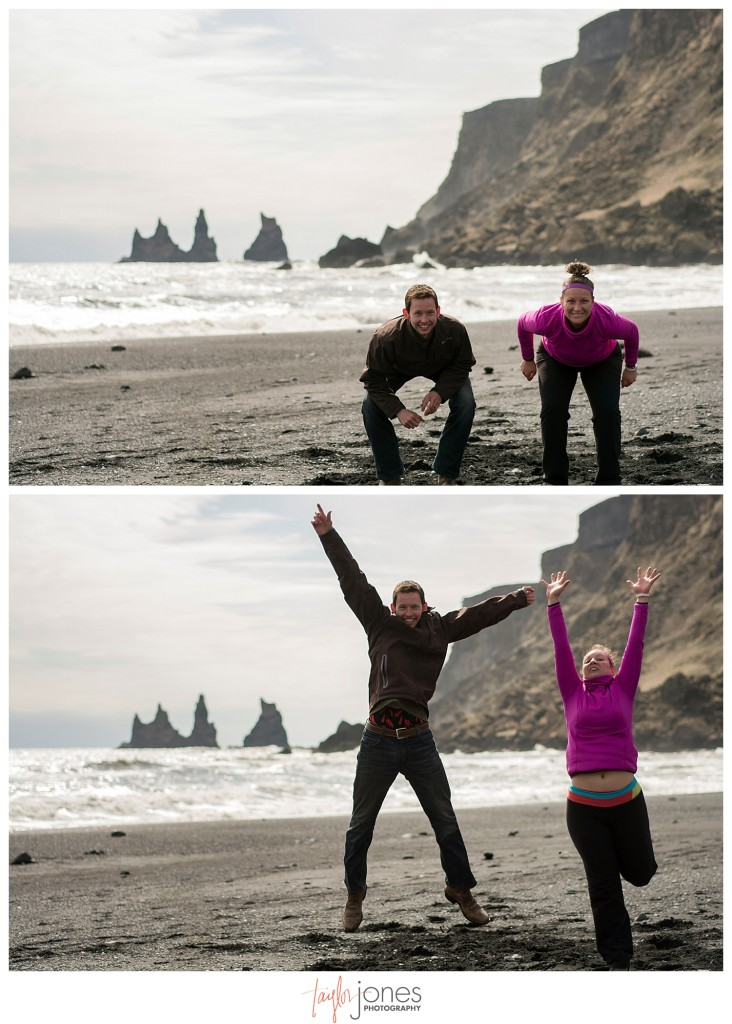 Photographers in Vik, Iceland