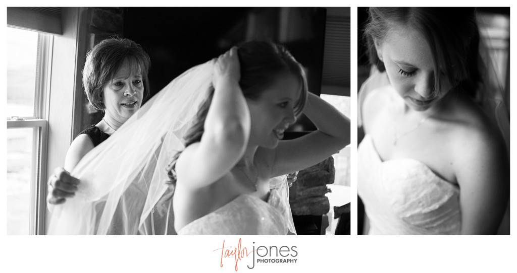 Grand Lake Colorado wedding bride getting ready
