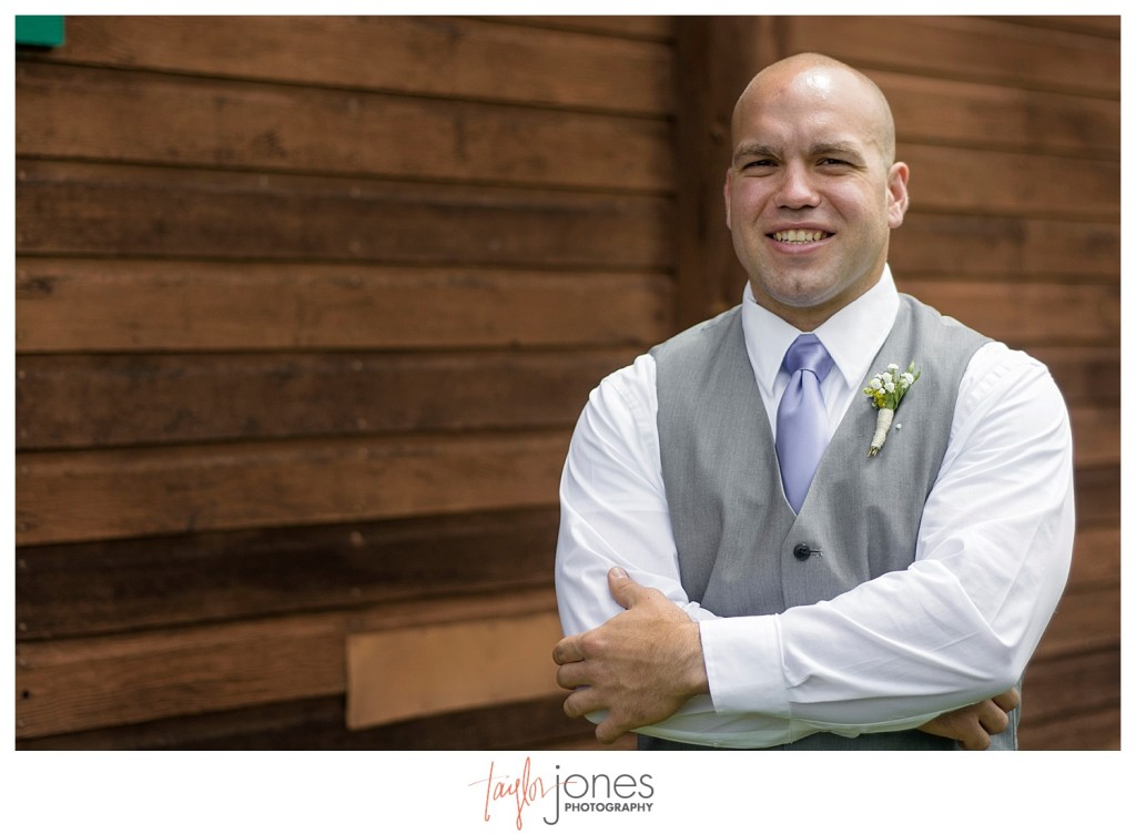 Grand Lake Colorado wedding at the Double A Barn groom