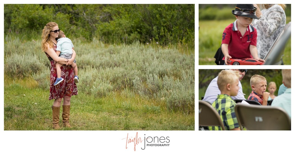Grand Lake Colorado wedding at the Double A Barn guests