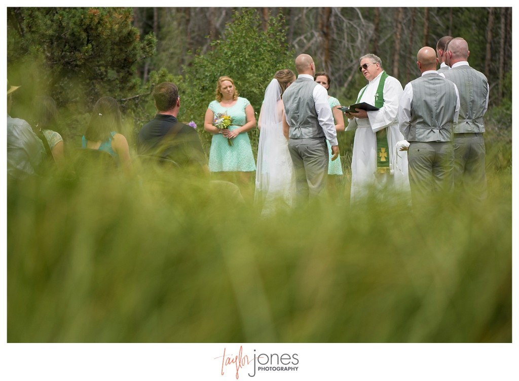 Grand Lake Colorado wedding at the Double A Barn ceremony