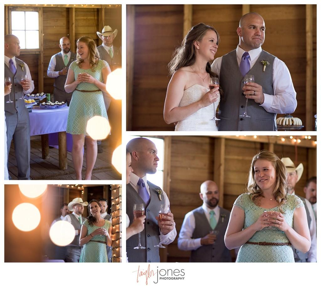 Grand Lake Colorado wedding at the Double A Barn reception