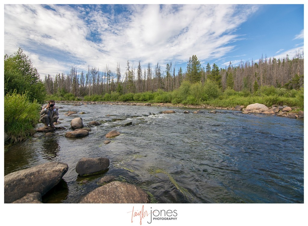 Grand Lake Colorado wedding at the Double A Barn reception fly fishing
