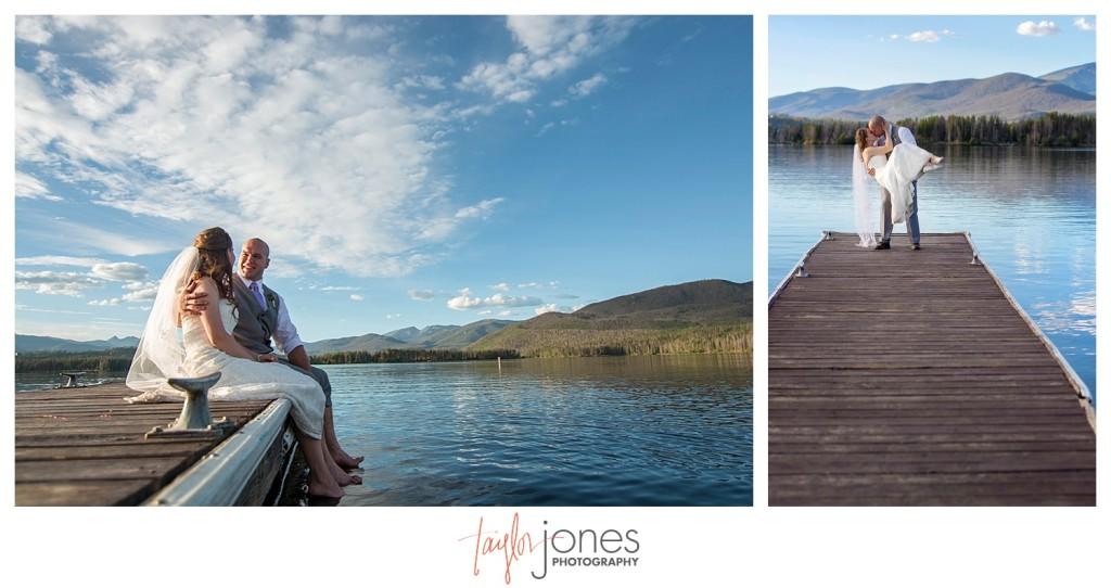 Grand Lake Colorado wedding bride and groom portraits