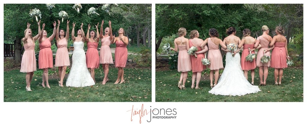 Botanic Garden at Chatfield wedding bridal party portraits