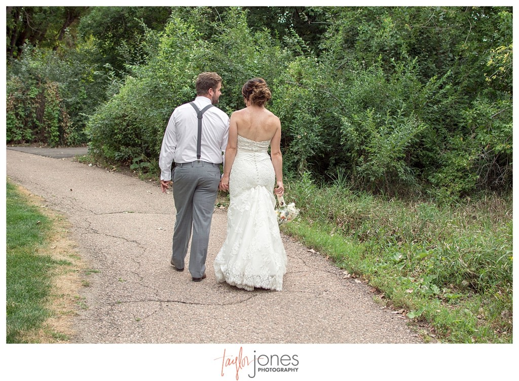 Botanic Garden at Chatfield wedding bride and groom portraits