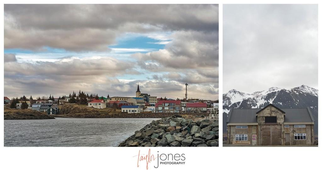 Iceland coastal city