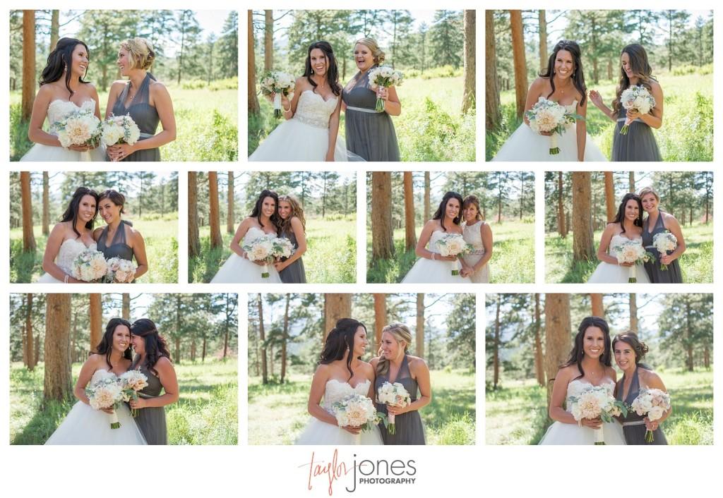 Bride with bridesmaids at Della Terra wedding