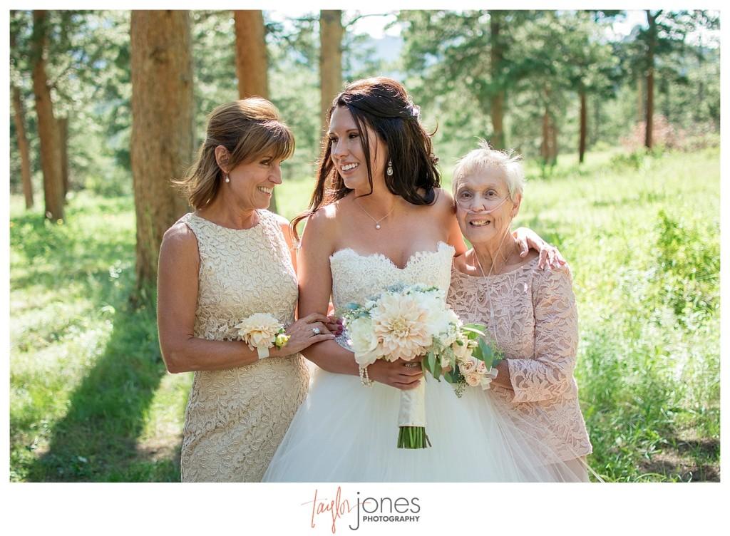 Bride with family at Della Terra wedding