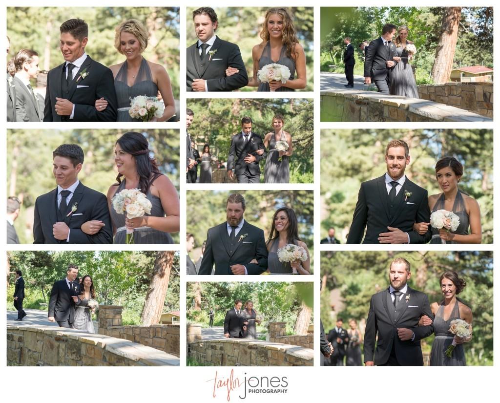 Della Terra Estes Park wedding ceremony bridal party