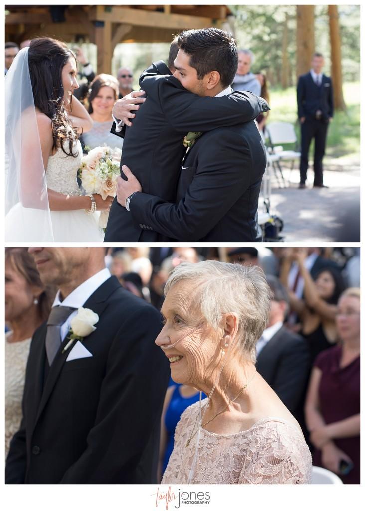Della Terra Estes Park wedding ceremony