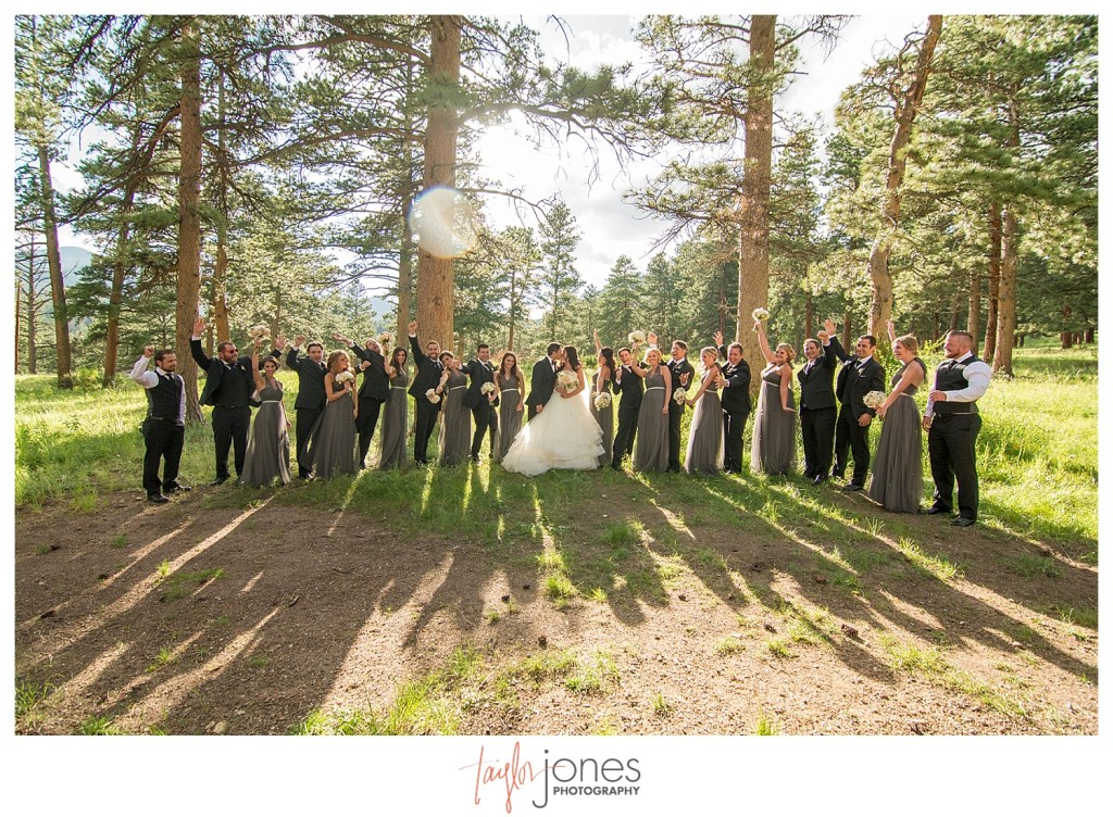 Della Terra Estes Park bridal party photos