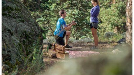 Colorado engagement and wedding proposal at Elk Preserve Evergreen, Colorado