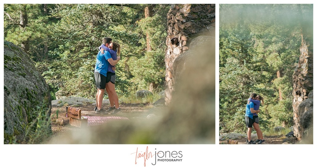Colorado engagement and wedding proposal at Elk Preserve Evergreen, Colorado