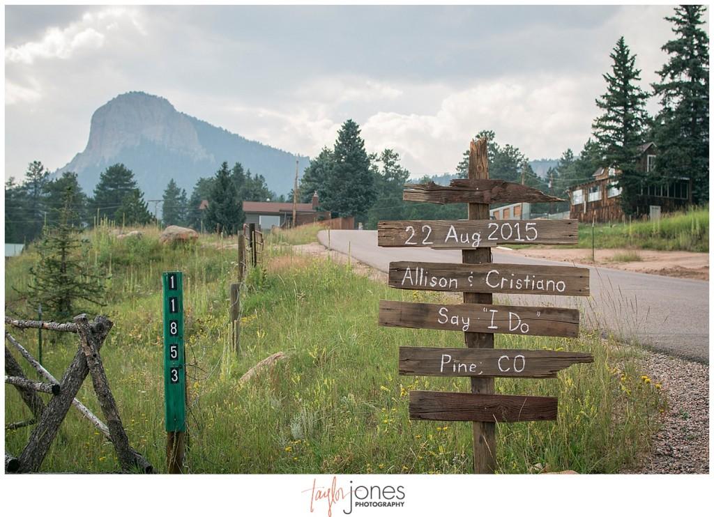 Lower Lake Ranch Pine Colorado wedding photographer