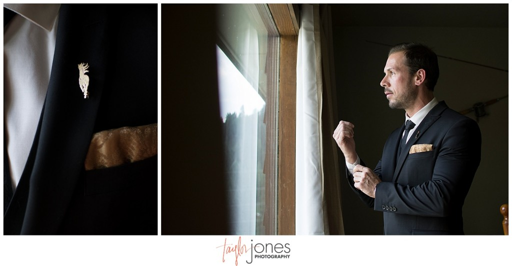 Lower Lake Ranch Pine Colorado wedding photographer groom getting ready